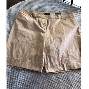 NWT Lane Bryant Khaki Bermuda Shorts Size 24